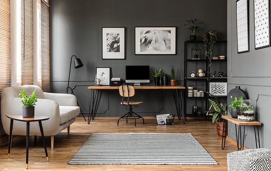 آرامش و زیبایی محل کار در خانه به افزایش روحیه شما کمک می کند.
