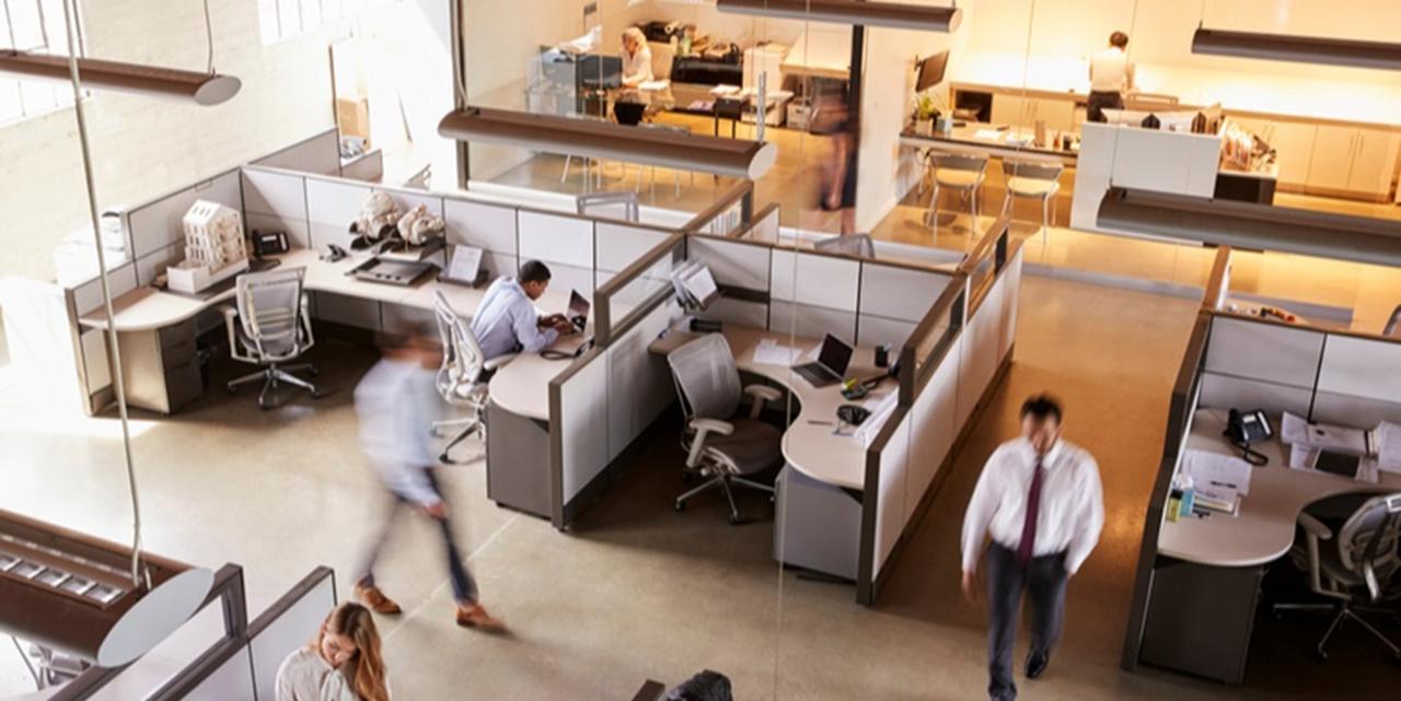 اتاقک اداری در صورت طراحی درست زیبایی و طراوت دارد.